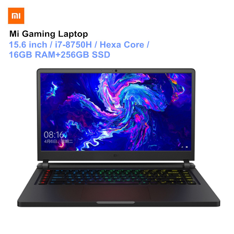Xiaomi Mi Gaming Laptops 15.6'' Windows10 Hexa Core I7-8750H 16GB RAM 256GB SSD 1TB HDD Hexa Core Notebook PC Updated Version
