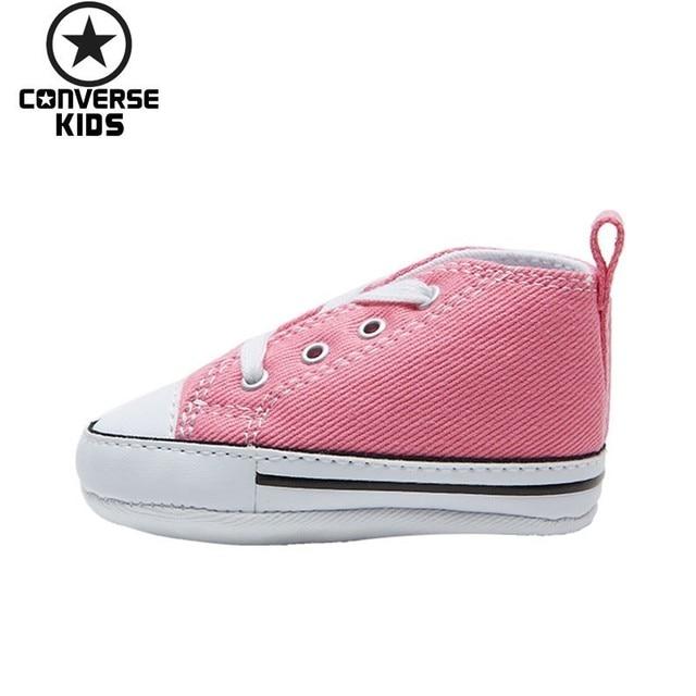 e4061de8e3b5a CONVERSE Buty Dla Dzieci Klasyczne Serii Kobieta Dziecko Wygodne Różowy  Kolor Płótnie Newborn Buty #88871