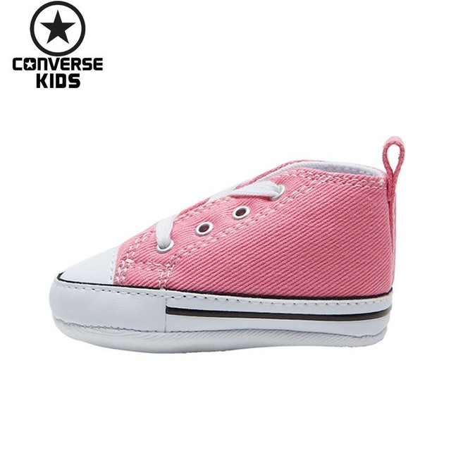 c3c03d7d9a US $55.59 49% OFF|CONVERSE Children's Shoes Classic Series Woman Baby  Comfortable Pink Colour Canvas Newborn Shoes #88871-in Sneakers from Mother  & ...