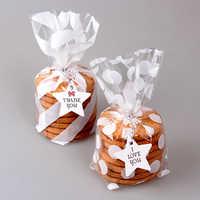 100 pièces mignon traiter sac Cookie bonbons cadeau sacs pour bonbons Biscuits Snack cuisson paquet événement fête fournitures