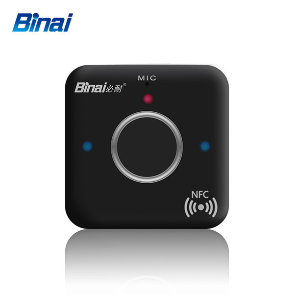 Binai bluetooth Music Audio Receiver Adapter 3.5mm AUX NFC Hands Music Adapter Dongle For Headphone Speaker
