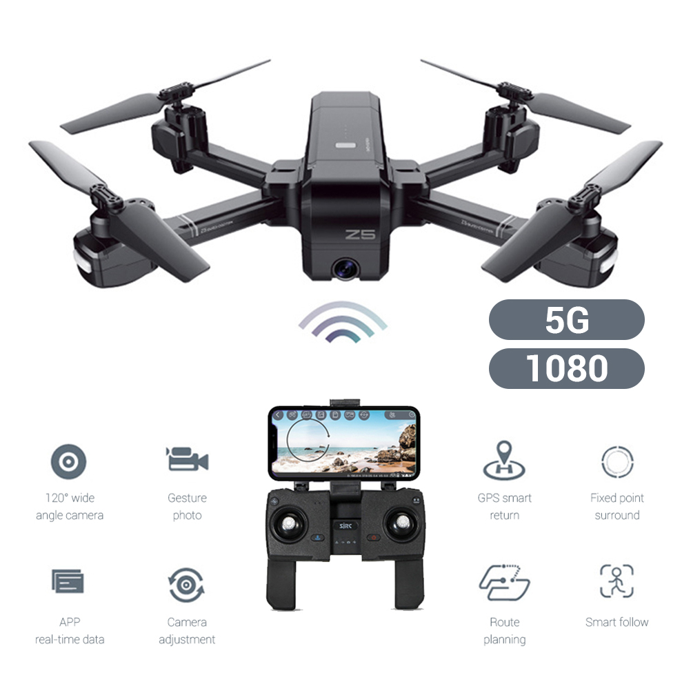 Drone With Camera GPS Z5 Dual mode Four axis Drone Quadcopter Intelligent Gesture Recognition Remote Control