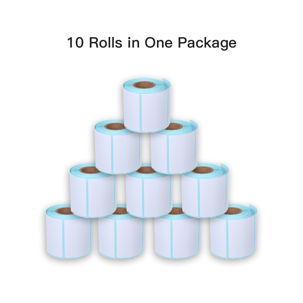 Image 4 - Thermal Label Sticker 10 Rolls Waterproof Oil proof Wine proof 40*20mm/40*30mm/40*40mm/40*70mm Strong Adhesive Sticker-in Stationery Stickers from Office & School Supplies