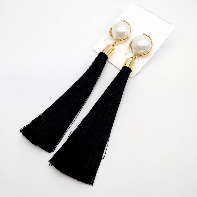 c10784587493 € 3.14 25% de DESCUENTO Aliexpress.com: Comprar Simple y elegante perla  simulada borla larga pendientes para las mujeres Bijoux 2019 Nueva joyería  ...