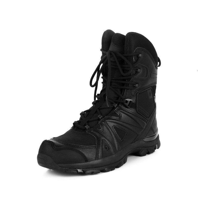 Side Zipper Lightweight Combat Tactical Boots Men Women Outdoor Hiking Climbing Military Training Wearproof Army Fans