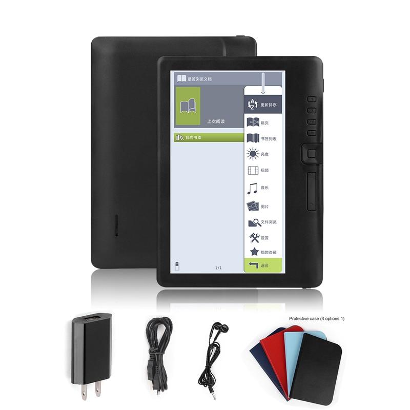 Lecteur d'ebook à écran couleur CLIATE 4G 7 pouces intelligent avec résolution HD e-book numérique + vidéo + lecteur de musique MP3
