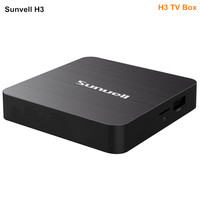 Sunvell H3 TV Box Allwinner H3 Android 7.0 2.4G WiFi 100Mbps Support 4K H.265 3D Games Video 2GB RAM 16GB ROM
