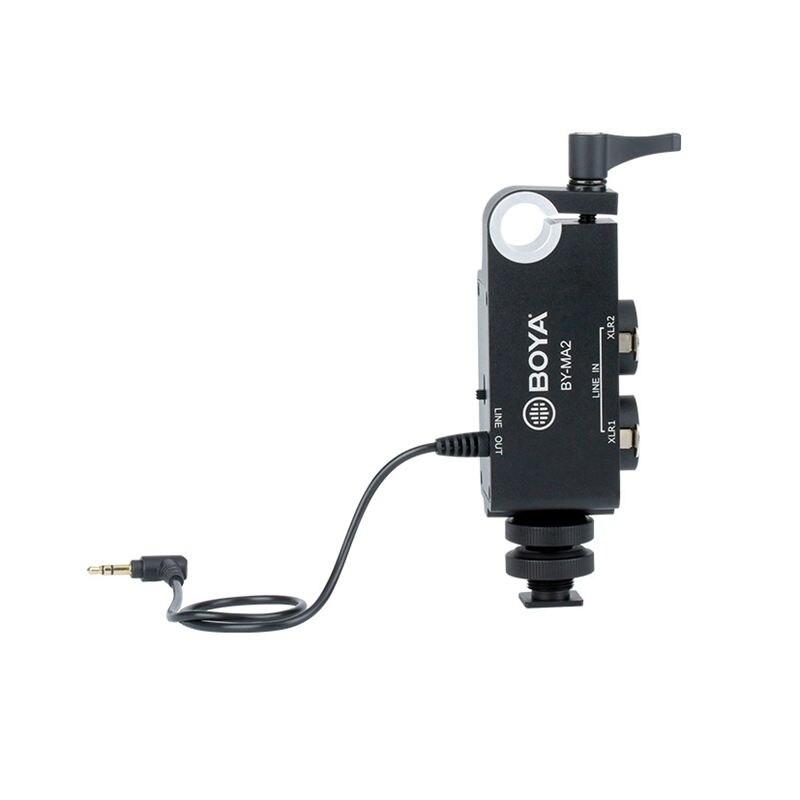 Boya BY-MA2 double canal enregistrement Audio mélangeur Xlr Jack 6.5mm à 3.5mm système de Microphone sans fil pour Canon Nikon _ Sony _ DSLR Cam