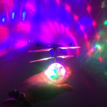 Crystal Flying RC Ball Infrared Induction Mini Aircraft Flashing Light Remote Control Helicopter Toys For Kids Gift Toy ZLRC funny flying fairy dolls toy infrared induction control flying angel dolls for girls remote control flying electronic toys kids