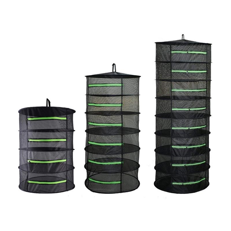 1 pc Black Herb Drying Rack 4/6/8 Layer Optional Green Zipper Breathable Mesh Material Professional Garden plant protection Rack1 pc Black Herb Drying Rack 4/6/8 Layer Optional Green Zipper Breathable Mesh Material Professional Garden plant protection Rack