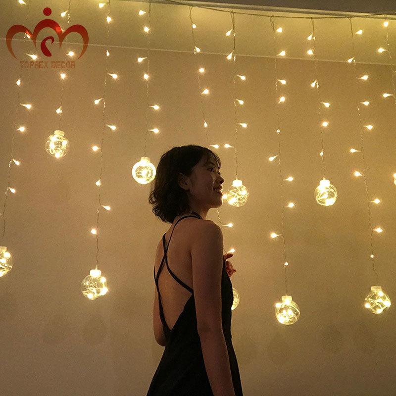 L2.5m LED կլոր գնդիկով LED վարագույրների - Տոնական լուսավորություն