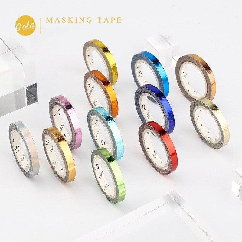 1PCS 5mm*5m Foil DIY Decoration Washi Tape Scrapbooking Masking Tape Stickers Scrapbooking Washitape Washy Tape 024038
