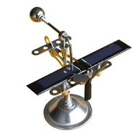 Technology Innovation Solar Rotation Aircraft Model Decoration White Metal Science Experiment Tools Unisex Free Shipping