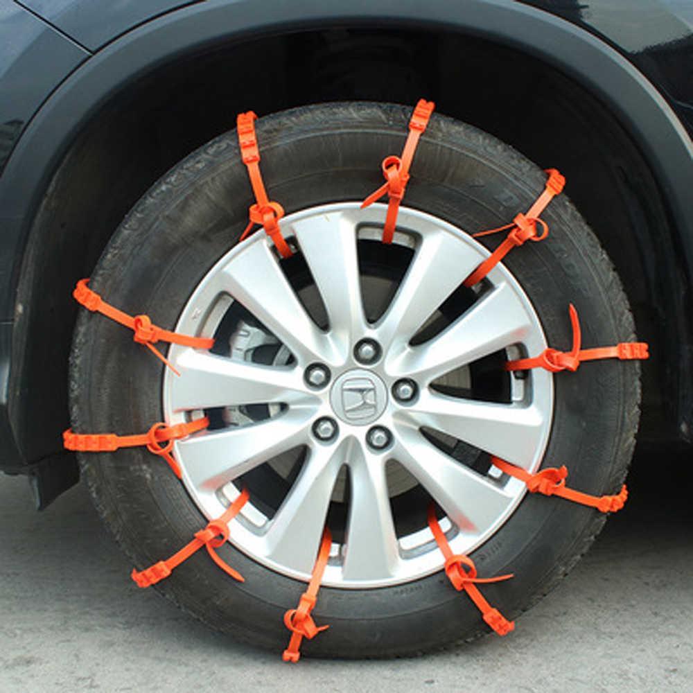 10 stücke Viel Universal Auto Mini Kunststoff Winter Reifen räder Schnee Ketten Für Autos/Suv Auto-Styling Anti -Skid Autocross Outdoor
