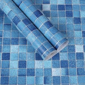 Image 5 - מכירת מקלחת חדר Moasic עצמי דבק טפט Pvc עמיד למים קיר מדבקת אופנה מטבח Oilproof מדבקות אריחי אמבטיה