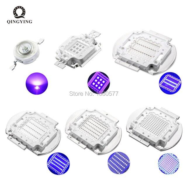 Color : 10pcs 3W, Size : 365 370nm WELSUN LED de Alta Potencia de 3W 5W UV 10W 20W 30W 50W 100W 365 NM 375 NM 385 NM 395 NM 405 NM 420 NM Chip LED Luz