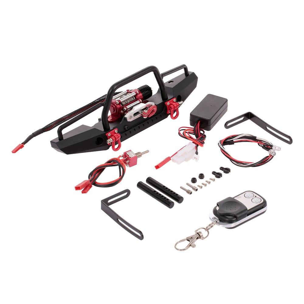 RC juguetes parachoques de Metal con cabrestante 2 LED receptor de control remoto para Traxxas RC coche TRX 4 Axial SCX10 RC orugas de coches-in Partes y accesorios from Juguetes y pasatiempos on AliExpress - 11.11_Double 11_Singles' Day 1