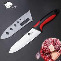 Cuchillo de cerámica 6 5 4 3 pulgadas cocina Chef carne Utility rebanar cuchillos de corte hoja blanca colorida Mango antideslizante herramienta de cocina
