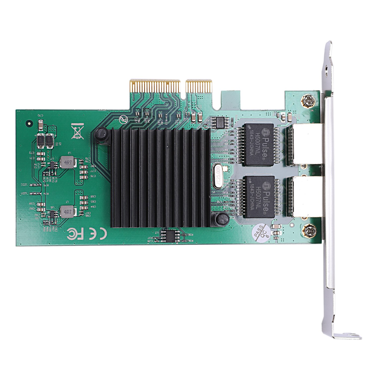 Network Card For For Intel82575 Server Chipset Gigabit Pci Express Network Card 1000M Pci E Double Rj45 Port Nic Adapter