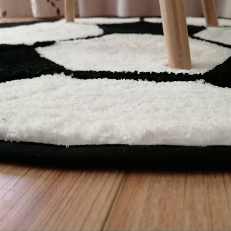 RFWCAKPolyester Anti-slip Round Ball Carpets For Living Room Bedroom Mat Computer Chair Rug Football Basketball Carpet Kids Room