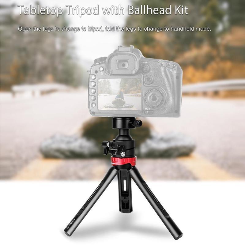 Kingjoy KT-60 Mini caméra trépied réglable Stable table trépied de bureau avec 360 degrés Ballhead Bear 3kg pour appareils photo DSLR - 2
