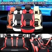 Универсальный 5 машинные места из микрофибры чехлы для сидений Мотоциклов подушки защиты с Руль Обложка Honda/Toyota/VW