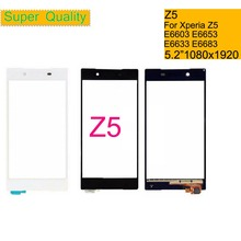 10Pcs/lot For Sony Xperia Z5 E6603 E6653 Touch Screen Digitizer Front Glass Z5 Dual E6633 E6683 Touch Panel Sensor Lens NO LCD