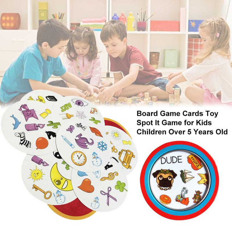 Paper Funny Spot Board Game English Card Game It Has Metal Box Family Party Entertainment 55 Cards/set Most Classic Cards Game