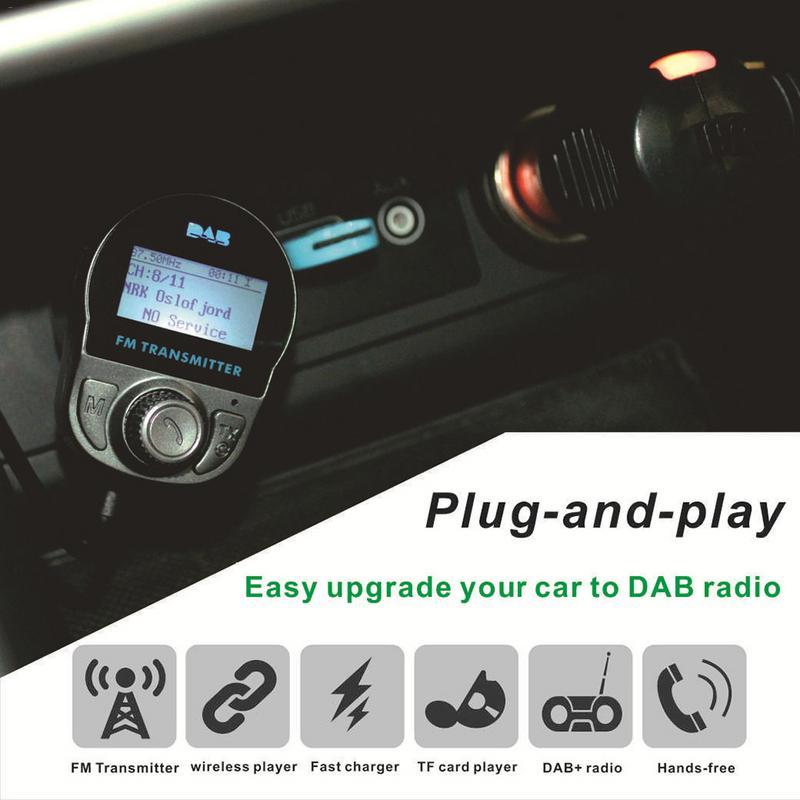 Sans fil LCD musique MP3 Audio récepteur adaptateur émetteur TF Slot FM modulateur Bluetooth mains libres voiture Kit USB chargeur