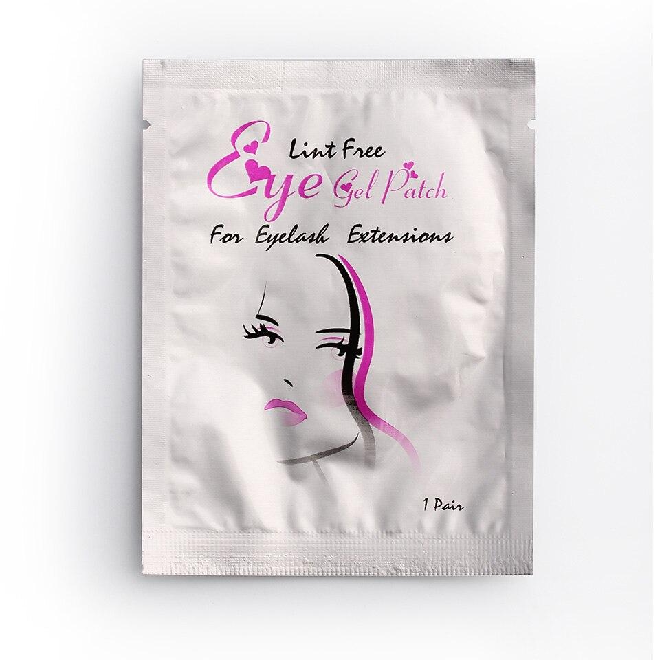 100 Pairs Venda Quente Delicado Cílios Almofadas de Gel Remendo Almofadas Olho Sem Fiapos Máscara Eyepads Cílios Extensão Atacado