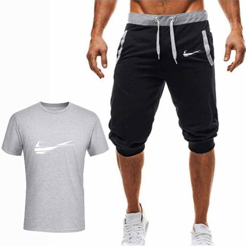 summer-hot-sale-men's-sets-t-shirts-pants-two-pieces-sets-casual-tracksuit-male-2019-casual-tshirt-gyms-fitness-trousers-men
