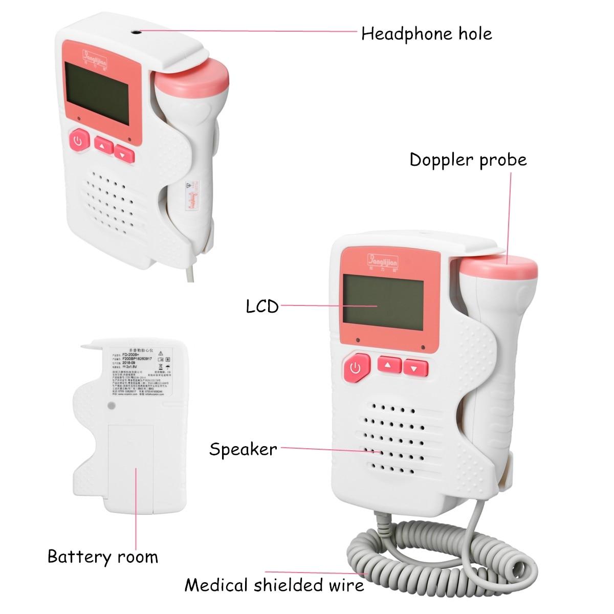 Monitor de Som Fetal Heart Pré Tester Detector