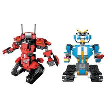 цена на DIY 2.4G Remote Control Robot Model Building Blocks Remote Control RC Transformer Building Blocks Model Robot Bricks Set Toy