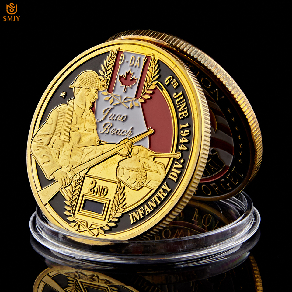 WW2 WWII German Afrika Korp Commemorative coin medallian Gold plated 1944
