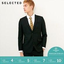 Отборная Мужская шерстяная смесь Slim Fit пиджак в деловом стиле T | 41815Y503