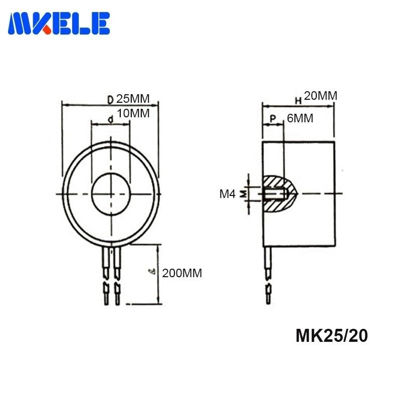 Free Shipping MK25 20 Holding Electric Magnet Lifting 5KG 50N Solenoid Sucker Electromagnet DC 6V 12V 24V Non standard Custom in Magnetic Materials from Home Improvement