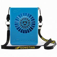 Multi-functional Rechargeable Hanging Mini Fan 3 Speeds Handheld Portable Fans Home Office Travel Air Cooling Desktop USB Fan