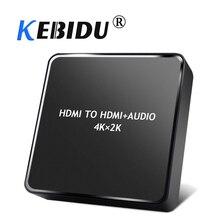 Kebidu 4k x 2k hdmi extrator de áudio para hdmi 3.5mm estéreo música extractor hdmi conversor de áudio hdmi divisor para tv pc