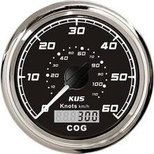 새로운 kus 보트 트럭 자동 트레일러 자동차 요트 선박 85mm gps cog 60 knots km/h 12 v/24 v speedo 속도계