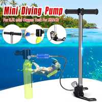 Diving Equipment Mini Hand Operated Pump Storage Box For 0.5L Mini Scuba Diving Cylinder Scuba Oxygen Tank for SMACO