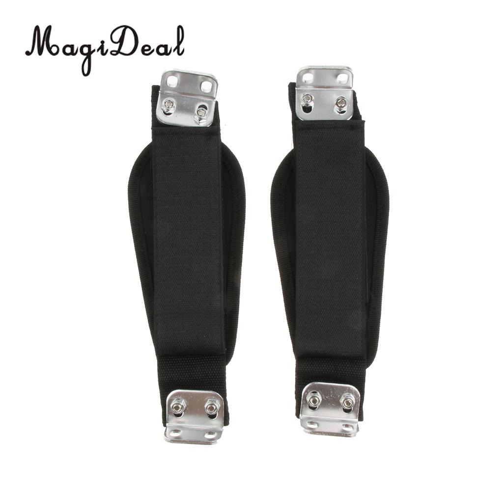 MagiDeal  2pcs Nylon Longboard Foot Fixing Band Skateboard Adjustable Stand Feet Holding Strap Keep Rider Standing