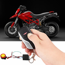 DC 12V Universal One Way Motorcycle Vibration Reminding Anti-theft Security Alarm System Long-distance Remote Control