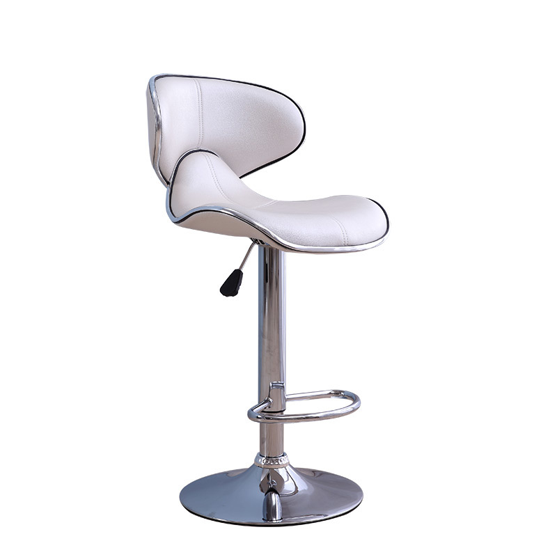 Simple PU Seat Bar Chair Creative Ergonomic Lifted Bar Chair Coffee Rotated Dining High Stool with Footrest and BackrestSimple PU Seat Bar Chair Creative Ergonomic Lifted Bar Chair Coffee Rotated Dining High Stool with Footrest and Backrest