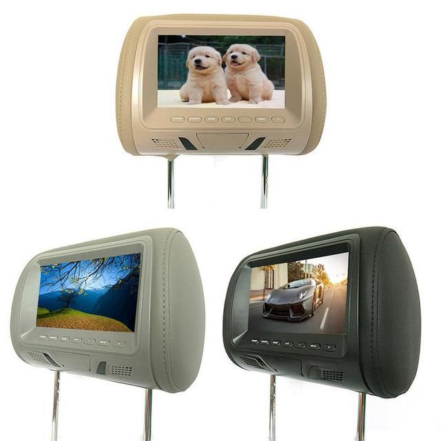 2PCS 7 Inch Rear-Mounted Car Headrest Universal Hd Digital Screen Image Lcd Display Pair Headrest Tv Display 2019