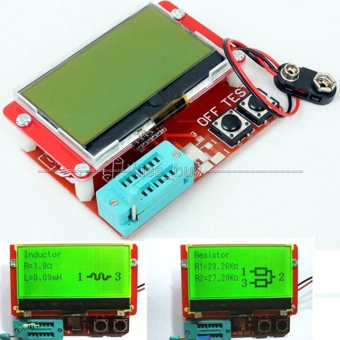 Большой экран дисплей ESR метр Транзистор тесты er 12864 ЖК-дисплей комбо Диод Триод индуктор емкость проверка счетчика LCR MOS/PNP/NPN