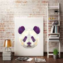 Baby Animal Poster Scandinavian Style Wall Art Canvas Painting Fox Panda Print Pictures For Living Room Nordic Decoration