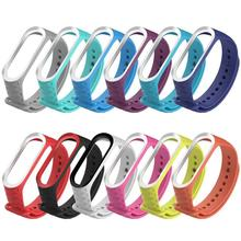 Suitable For Millet Bracelet 3 Silicone Solid Color Monochrome Texture Diamond Replacement Wristband Xiaomi Mi