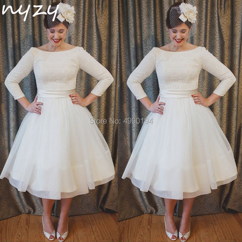 NYZY W3 Simple Short Wedding Dress 2019 Vintage 50s 60s 3