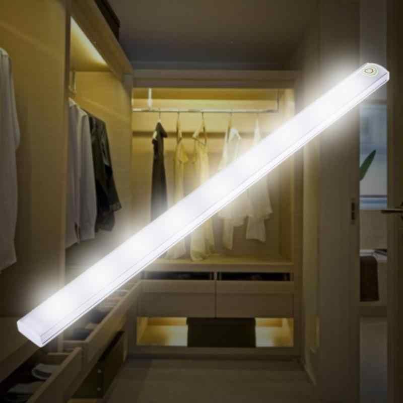 30 см 6 W 21 светодиодный USB Touch Сенсор полосы затемнения Светодиодная сегментная лампа под полкой стол свет для Спальня прикроватной тумбочке Шкаф Кабинет Ванная комната