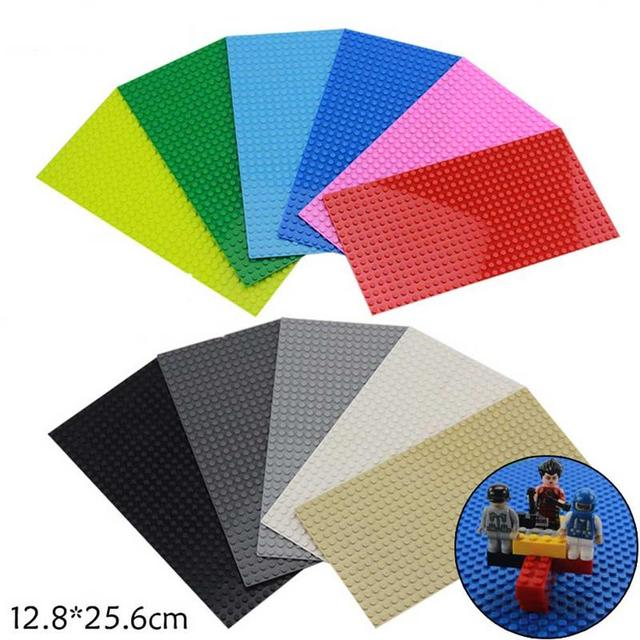 16*32 Dots Building Block Small Particles Splicing Inserting Bricks Floor Base Plates Bottom Bases About 12.8 * 25.6 Cm